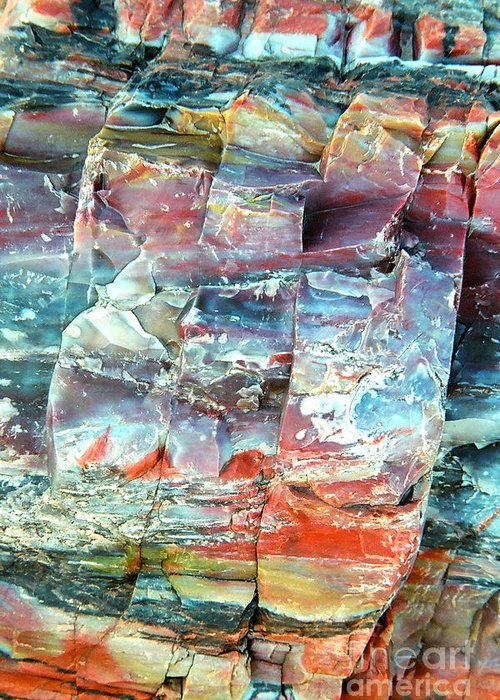 Rock Greeting Card featuring the photograph Geologist's rainbow by Frank Townsley