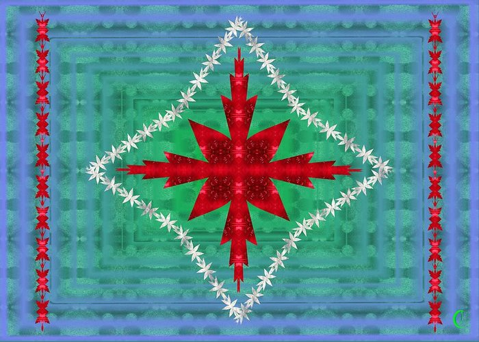 Geometric Greeting Card featuring the digital art Geometric Fantasy by Christopher Jay