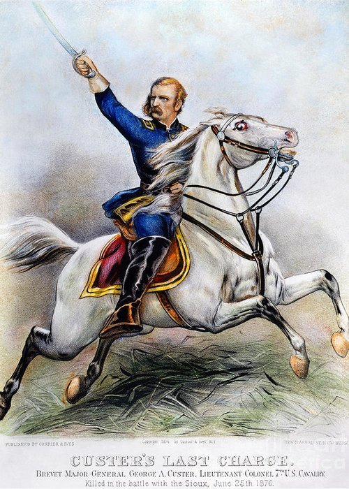 1876 Greeting Card featuring the photograph George Armstrong Custer by Granger