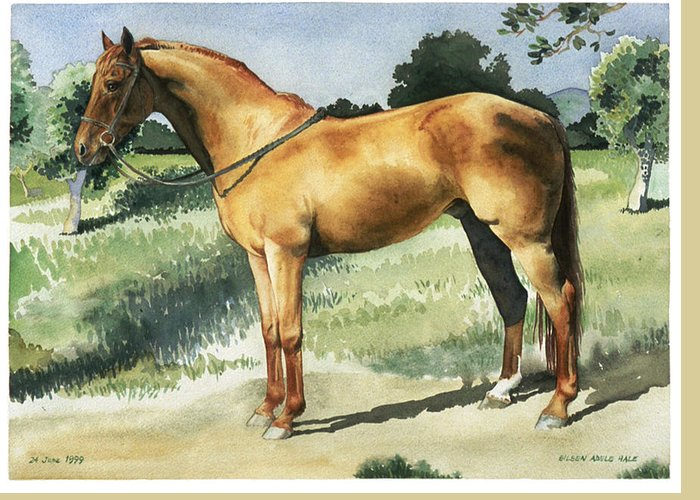 Portrait Greeting Card featuring the painting George by Eileen Hale