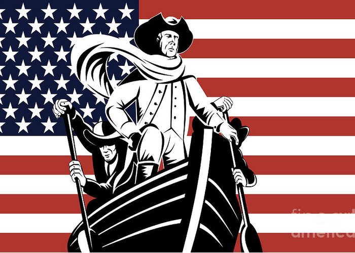 American Revolution Greeting Card featuring the digital art George Washington by Aloysius Patrimonio