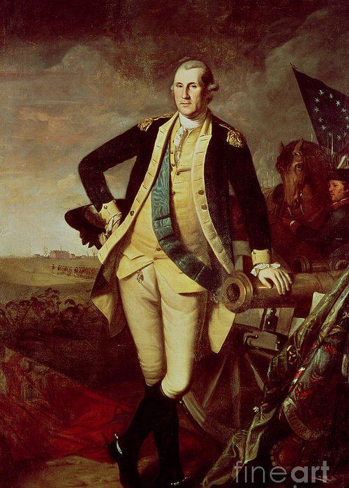 Bal28610 Greeting Card featuring the painting George Washington At Princeton by Charles Willson Peale