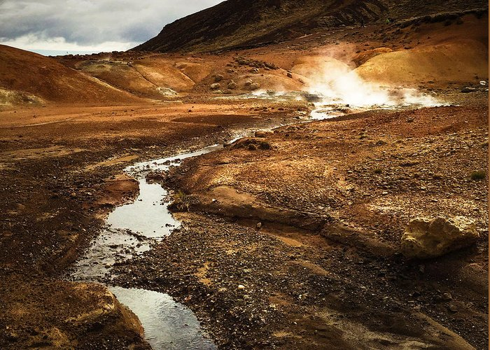 Iceland Greeting Card featuring the photograph Geothermal Area Krysuvik In Iceland by Matthias Hauser