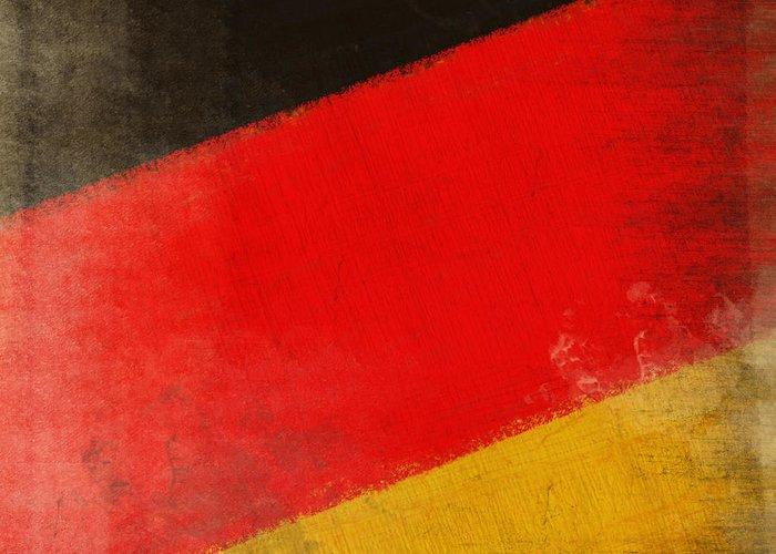 Chalk Greeting Card featuring the photograph German Flag by Setsiri Silapasuwanchai