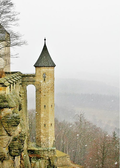 Fortresses Greeting Card featuring the photograph Germany - Elbtal From Festung Koenigstein by Christine Till