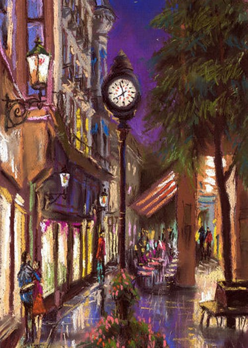 Pastel Greeting Card featuring the painting Germany Baden-baden 11 by Yuriy Shevchuk