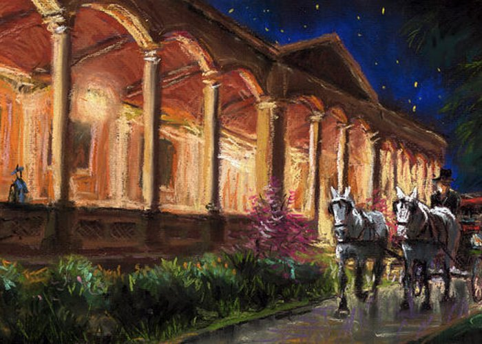 Pastel Greeting Card featuring the painting Germany Baden-baden 13 by Yuriy Shevchuk