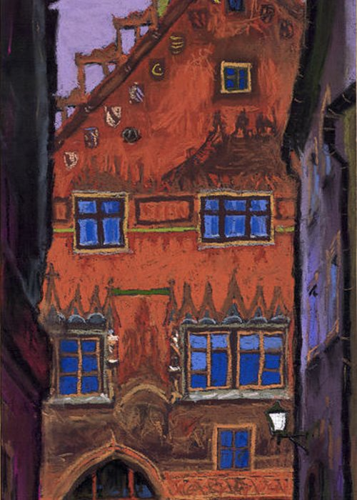 Pastel Greeting Card featuring the painting Germany Ulm by Yuriy Shevchuk