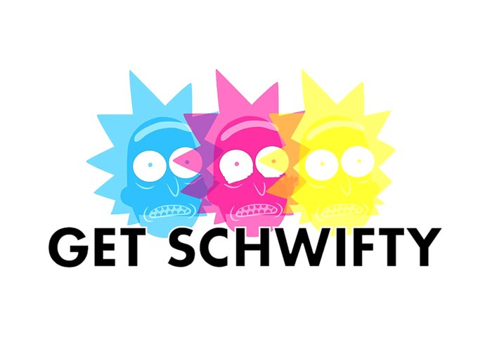 Get Schwifty Rick And Morty Greeting Card For Sale By Octa Herzepthia
