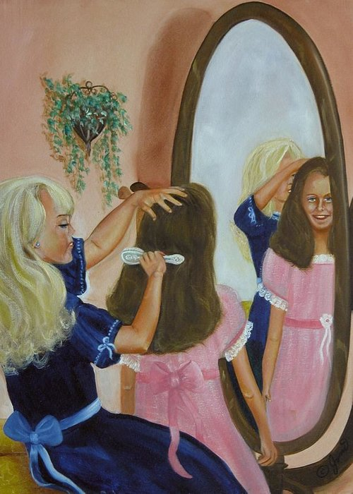 Children Greeting Card featuring the painting Getting Ready by Joni McPherson