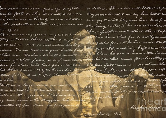 Gettysburg Address Greeting Cards