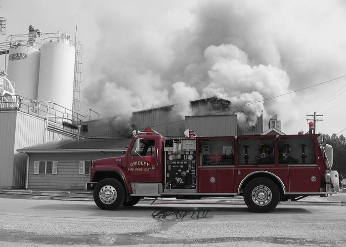 Selective Coloring Greeting Card featuring the photograph G.f.d. by Dylan Punke