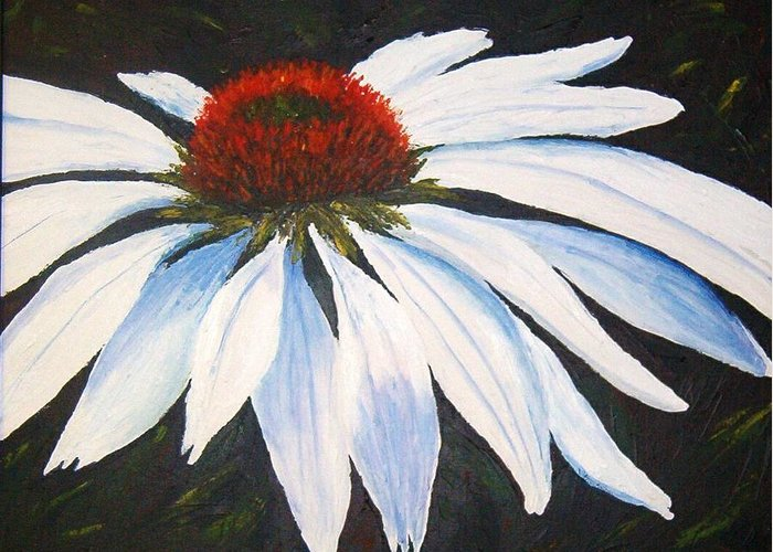Cone Flowers Greeting Card featuring the painting Ghost Cone by Tami Booher