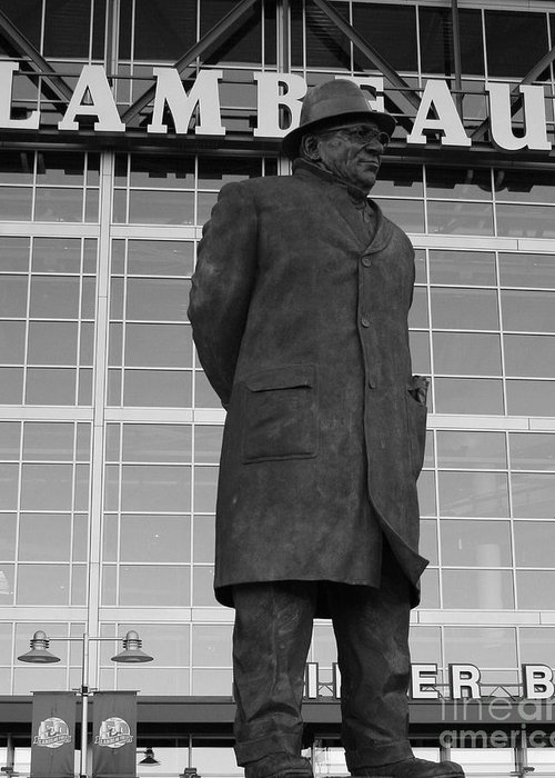 Vince Lombardi Greeting Card featuring the photograph Ghosts Of Lambeau by Tommy Anderson