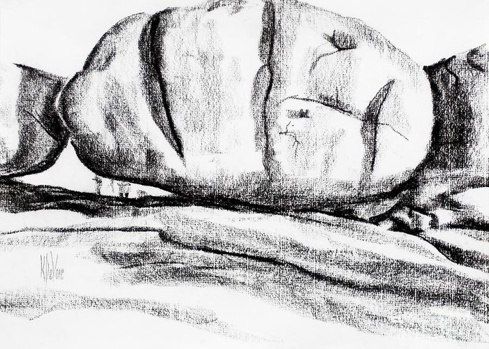 Giant Baked Potato At Elephant Rocks State Park Greeting Card featuring the drawing Giant Baked Potato At Elephant Rocks State Park by Kip DeVore