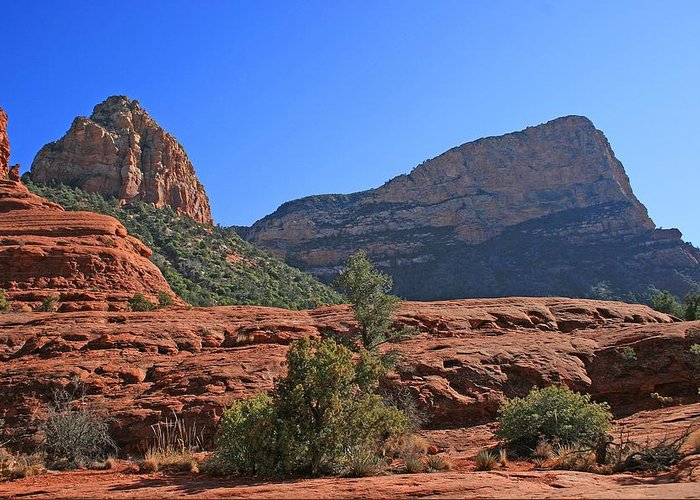 Sedona Greeting Card featuring the photograph Gibraltar West by Gary Kaylor