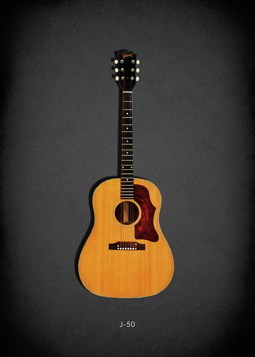 Gibson J-50 Greeting Card featuring the photograph Gibson J-50 1967 by Mark Rogan