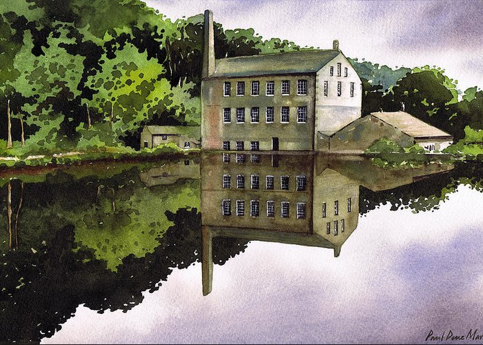 Mill Greeting Card featuring the painting Gibson Mill by Paul Dene Marlor
