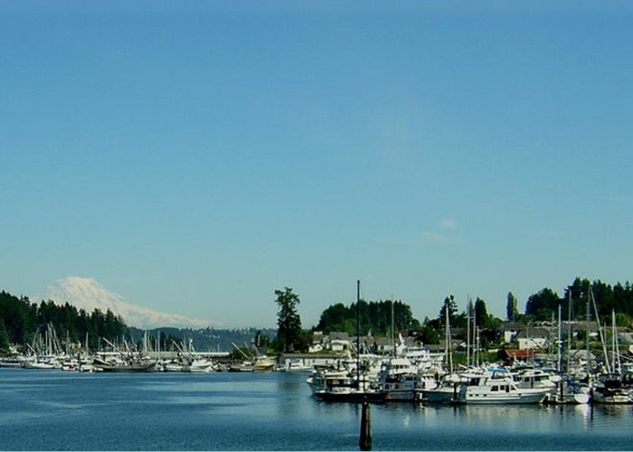 Gig Harbor Bay Greeting Card featuring the photograph Gig Harbor Bay by Valerie Josi