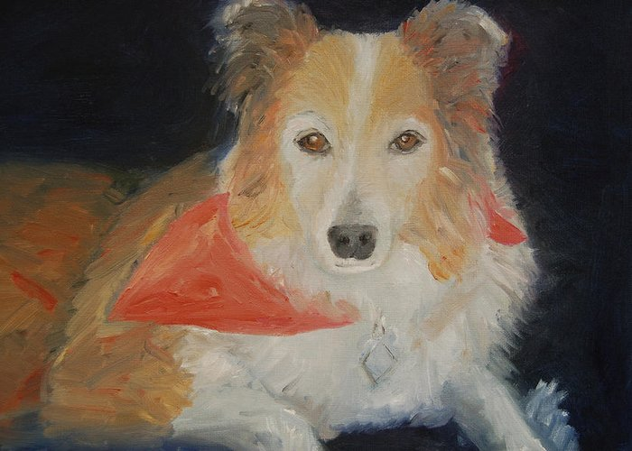 Konkol Greeting Card featuring the painting Ginger by Lisa Konkol