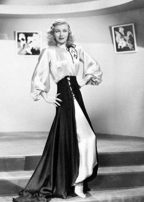 1950s Greeting Card featuring the photograph Ginger Rogers (1911-1995) by Granger