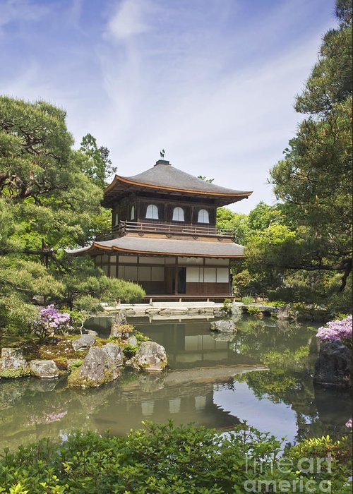 Architecture Greeting Card featuring the photograph Ginkakuji Temple by Rob Tilley