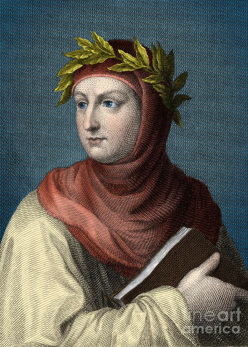 Giovanni boccaccio italian author greeting card for sale by science literature greeting card featuring the photograph giovanni boccaccio italian author by science source m4hsunfo