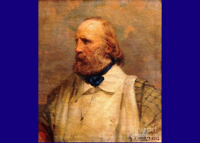Pd-art: Reproduction Greeting Card featuring the painting Giuseppe Garibaldi by Pg Reproductions