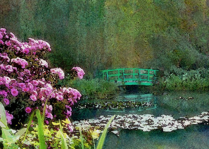 Giverny Greeting Card featuring the photograph Giverny Bridge by Joe Bonita