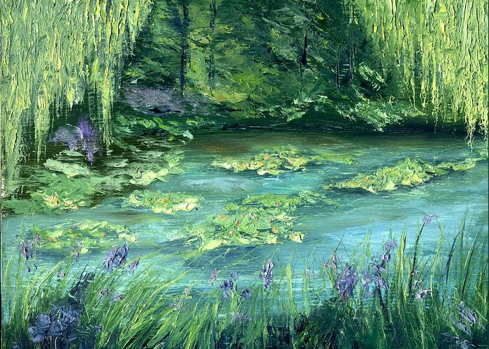 Giverny Greeting Card featuring the painting Giverny by Gail Kirtz