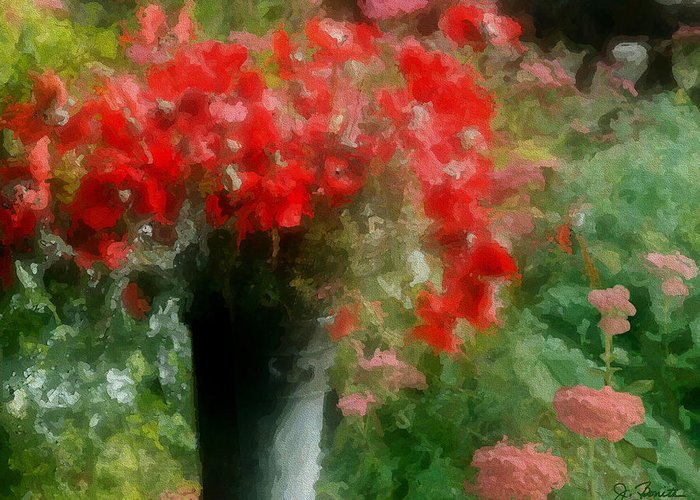 Giverny Greeting Card featuring the photograph Giverny Poppies by Joe Bonita