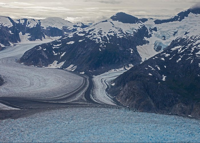 Frederick Sound Greeting Card featuring the photograph Glacial Curves by Mike Reid