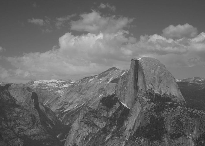 Half Dome Greeting Card featuring the photograph Glacier Point by Travis Day