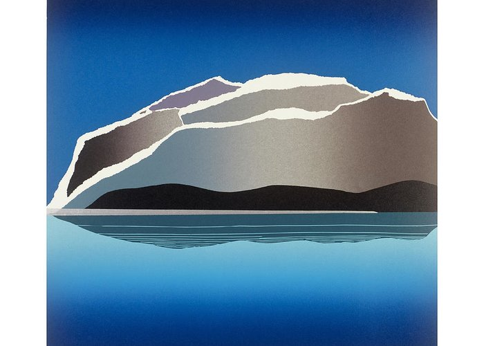 Landscape Greeting Card featuring the mixed media Glaciers by Jarle Rosseland