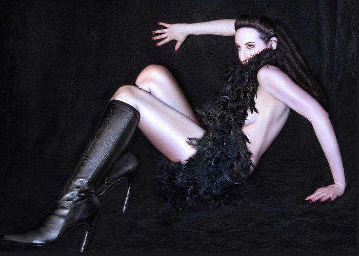 Glamor Greeting Card featuring the photograph Glam by Jaeda DeWalt