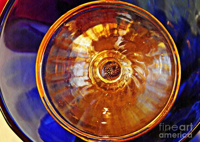 Glass Greeting Card featuring the photograph Glass Abstract 577 by Sarah Loft
