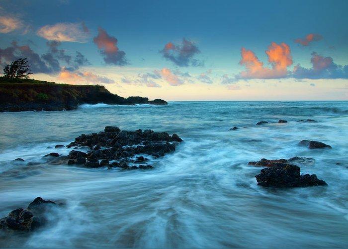 Glass Beach Greeting Card featuring the photograph Glass Beach Dawn by Mike Dawson