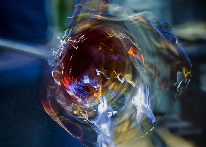 Glass Greeting Card featuring the photograph Glass In Motion by Marion McCristall