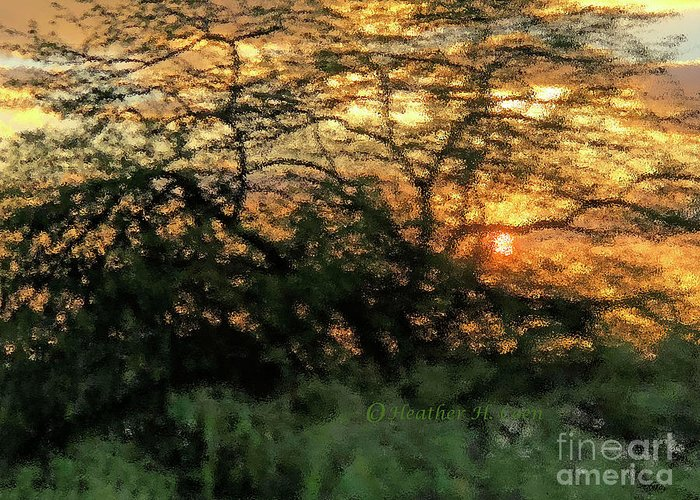 Sunset Greeting Card featuring the photograph Glass Sunset Hawaii by Heather Coen