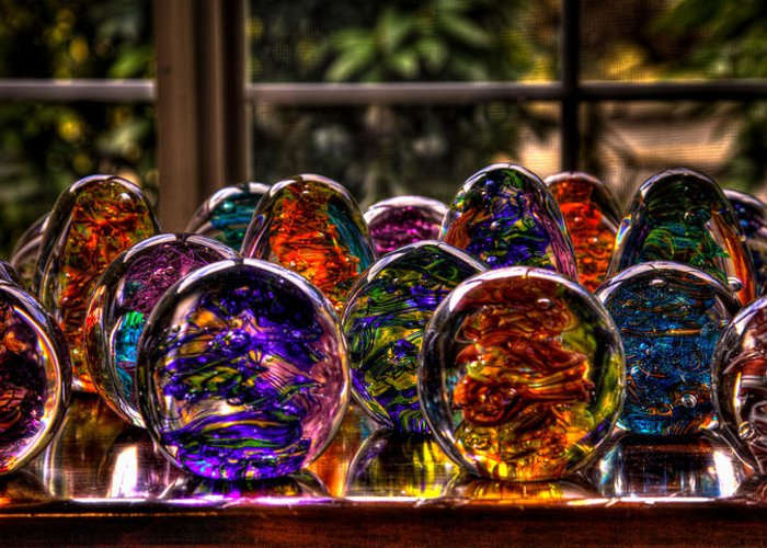 Glass Greeting Card featuring the photograph Glass Symphony by David Patterson