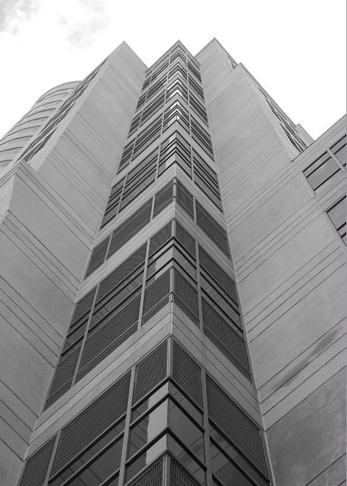Architecture Greeting Card featuring the photograph Glass Tower by Rob Hans