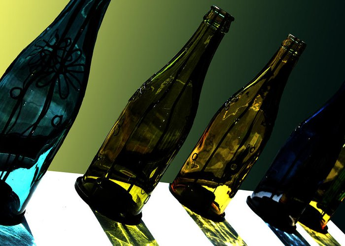 Bottle Greeting Card featuring the photograph Glassworks by Barbara White
