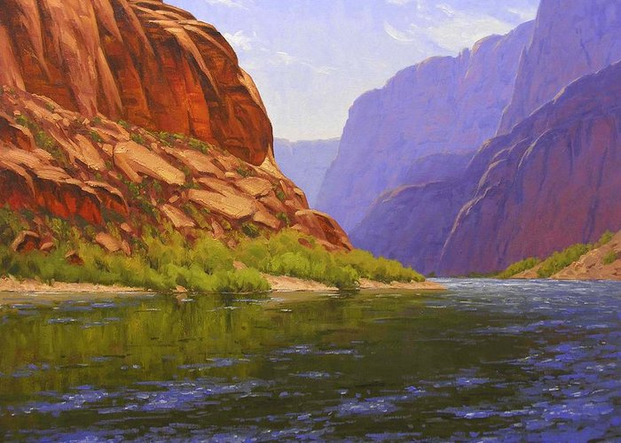 Cody Delong Greeting Card featuring the painting Glen Canyon Morning by Cody DeLong