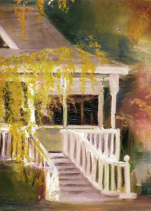 House Greeting Card featuring the painting Glenridge Porch by Nancy Atherton Cheadle