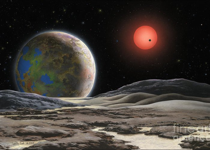 Exoplanet Paintings Greeting Cards