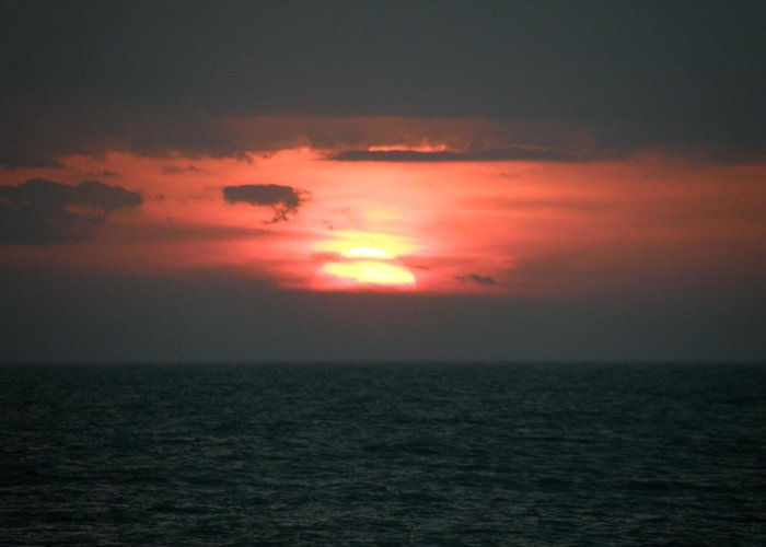 Sunset Greeting Card featuring the photograph Glow In The Dark by Mary Hurst