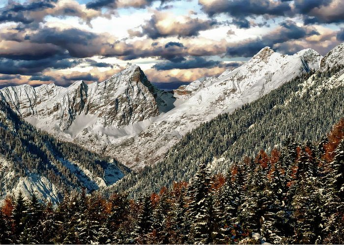 Winter Greeting Card featuring the photograph Gnadenwald In Autumn by Anthony Dezenzio