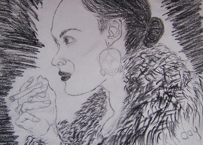 Billie Holiday Greeting Card featuring the greeting card Go Billie by Beverly Howell