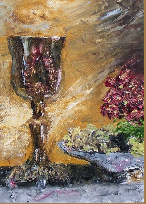 Greeting Card featuring the painting Goblet by Stephen King