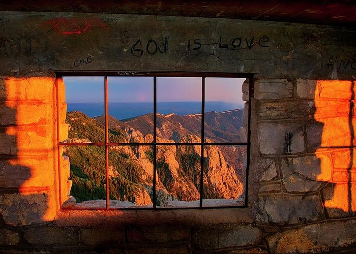 Nature Greeting Card featuring the photograph God is Love by Zayne Diamond Photographic
